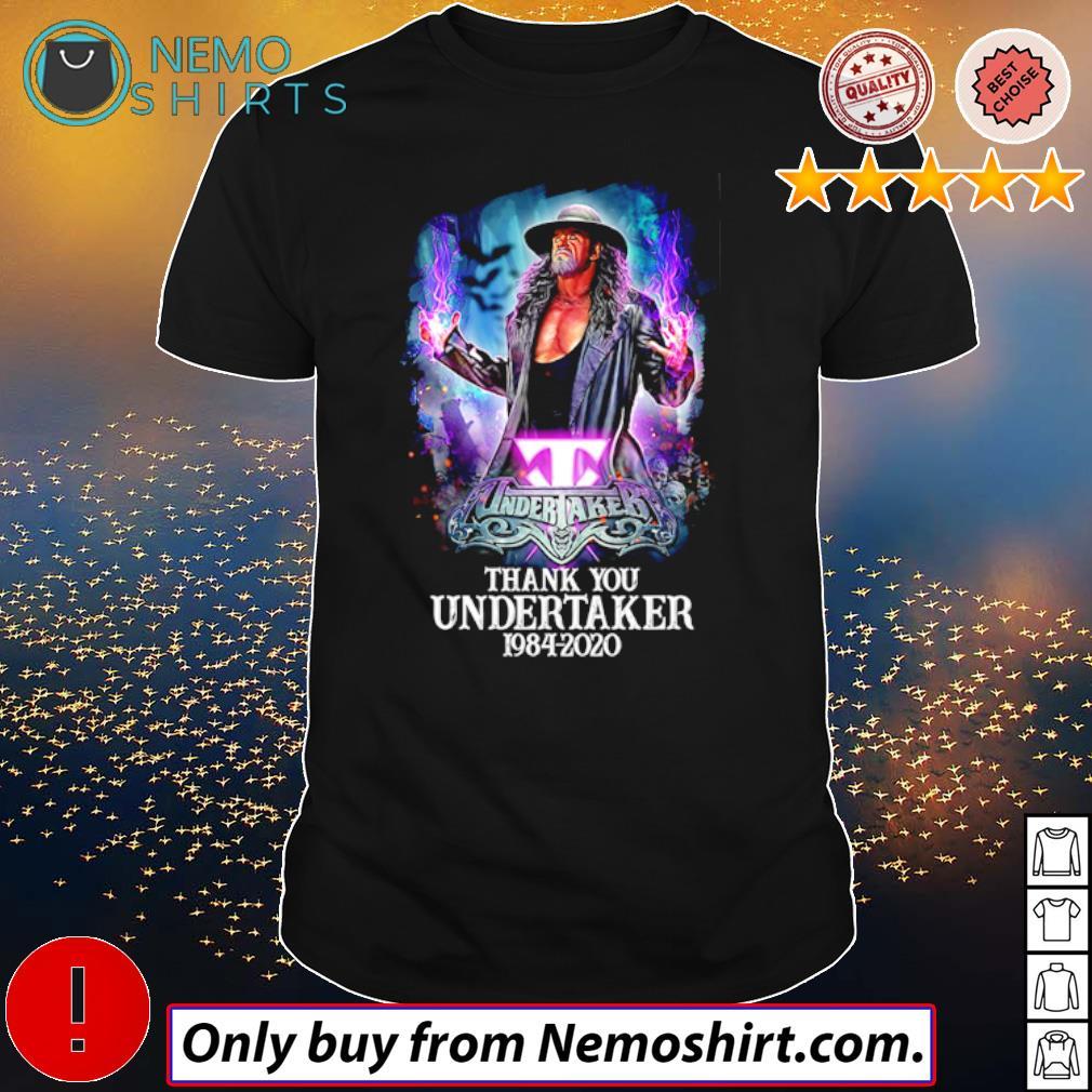 Thank you Undertaker 1984 – 2020 shirt