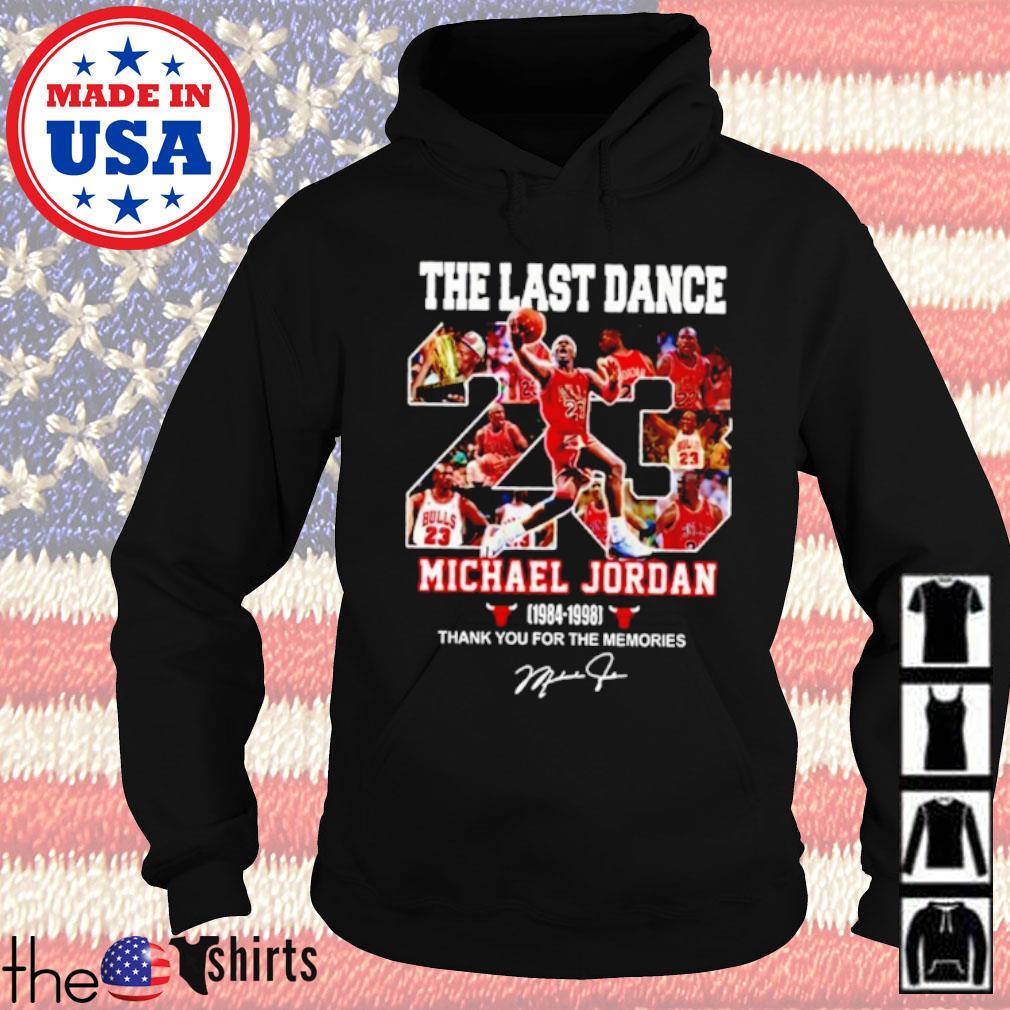 The last dance 23 Michael Jordan 1984-1998 signature s Hoodie Black