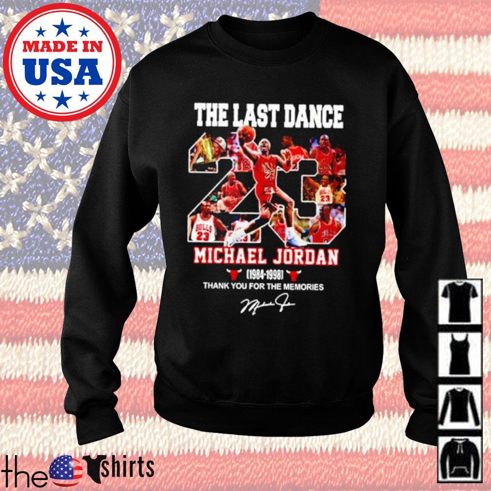 The last dance 23 Michael Jordan 1984-1998 signature s Sweater Black