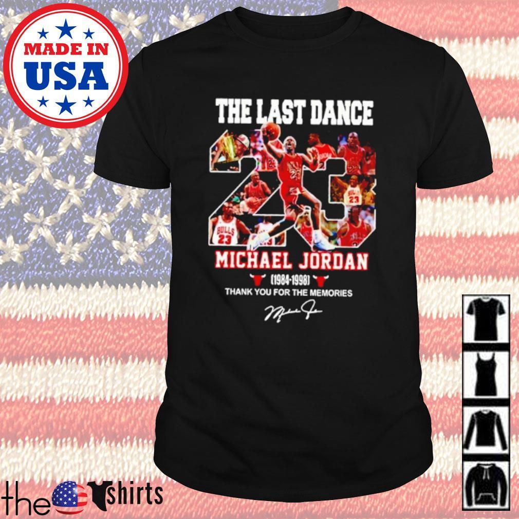 The last dance 23 Michael Jordan 1984-1998 signature shirt