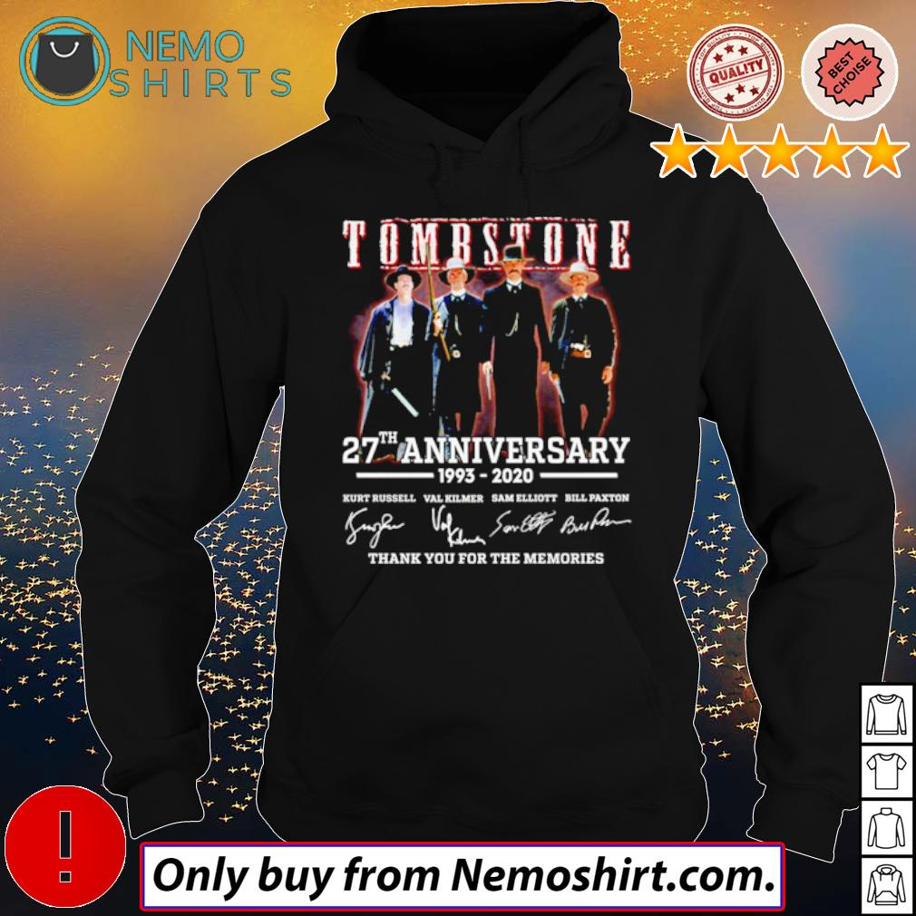 Tombstone 27th Anniversary 1993-2020 all character signatures s Hoodie Black