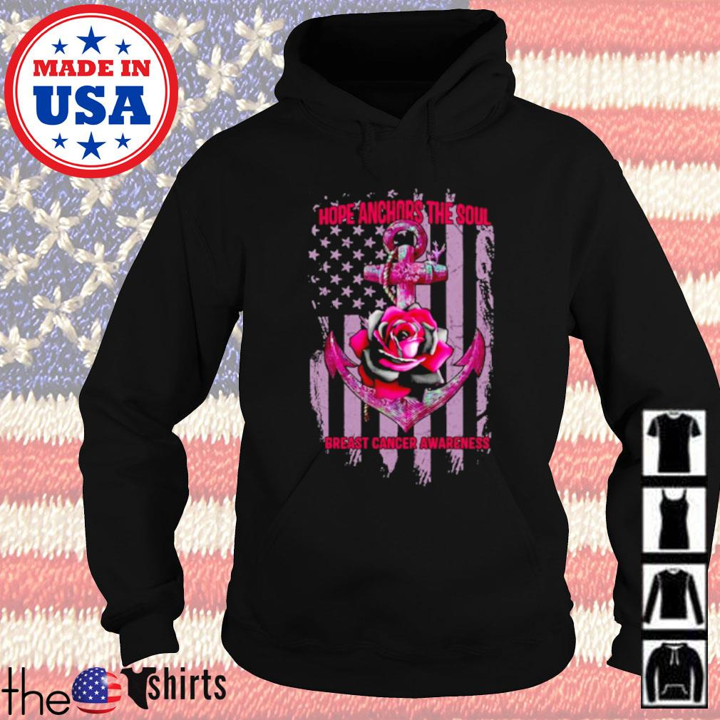 Veteran Roses and cross Hope Anchors the soul breast cancer awareness s Hoodie Black