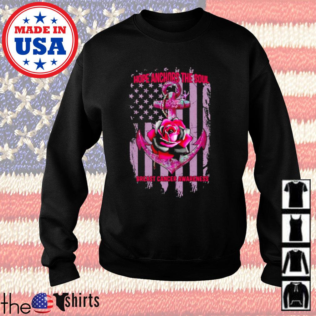 Veteran Roses and cross Hope Anchors the soul breast cancer awareness s Sweater Black