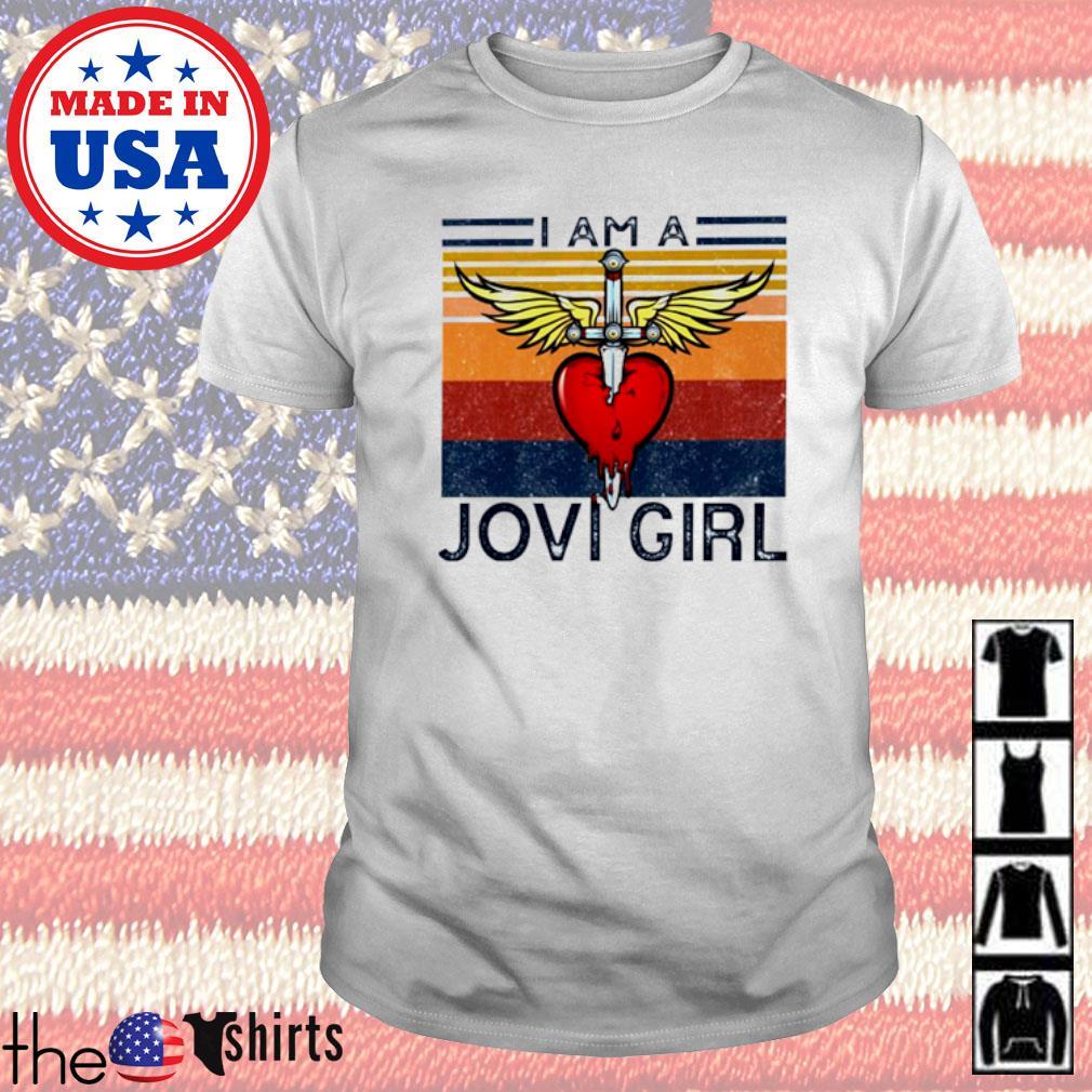 Vintage Bon Jovi I am a Jovi girl shirt