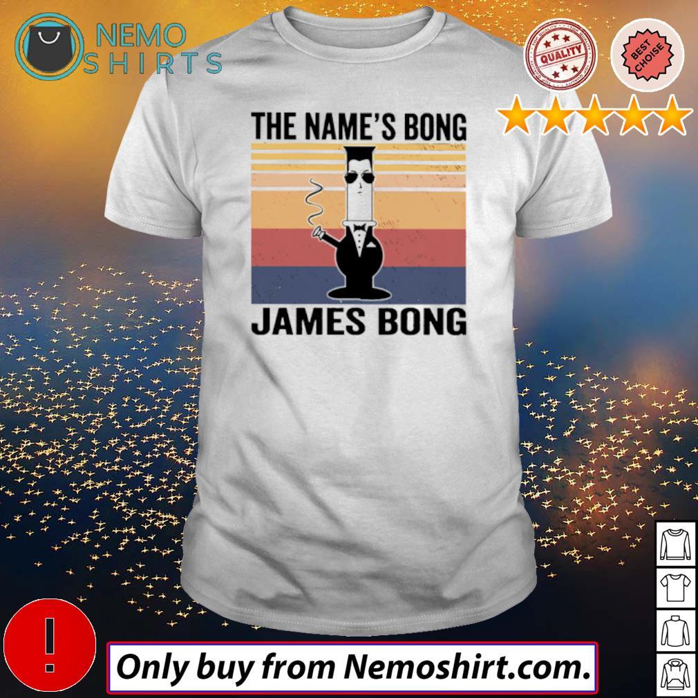 Vintage Jame Bond the name's Bong James Bong shirt