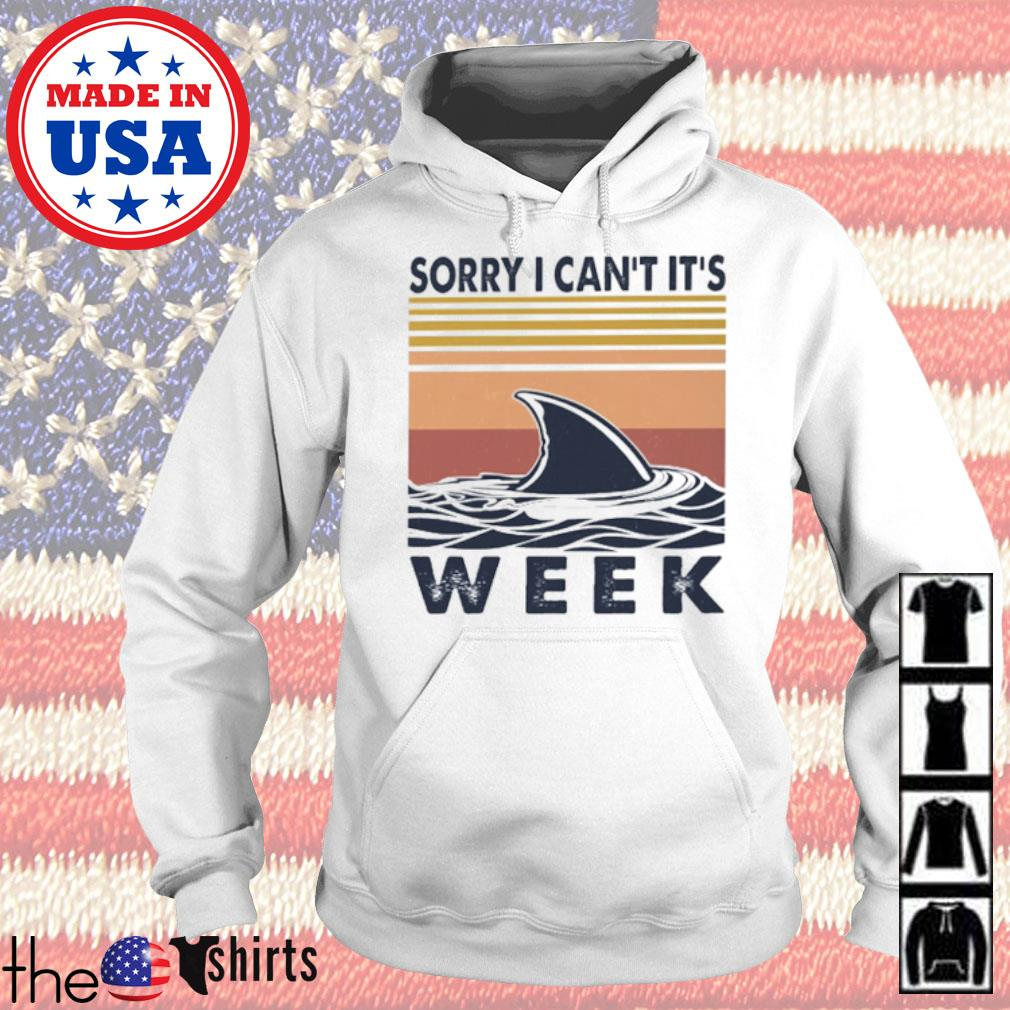 Vintage shark sorry I can't it's week s Hoodie White
