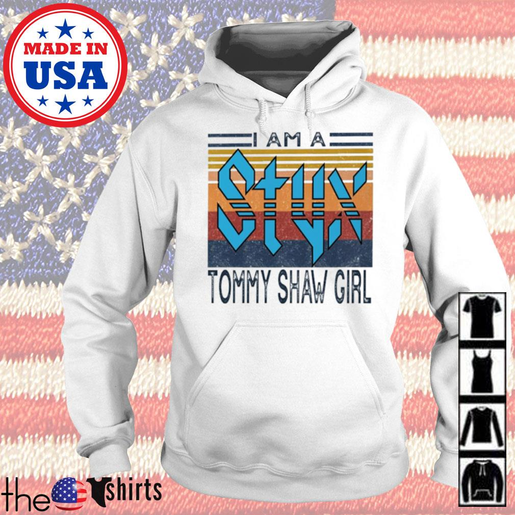 Vintage Styx Band I am a Tommy Shaw girl s Hoodie White