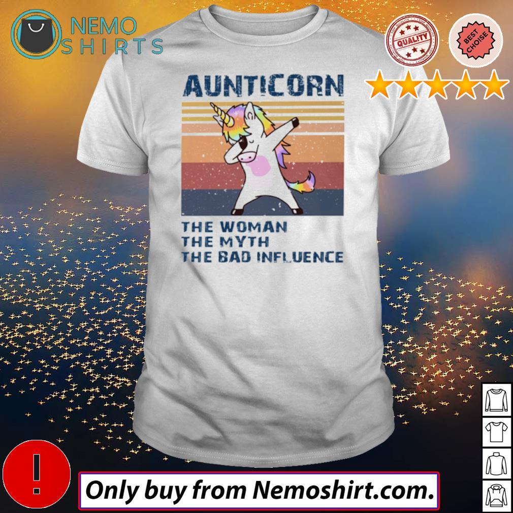 Vintage Unicorn aunticorn the woman the myth the bad influence shirt