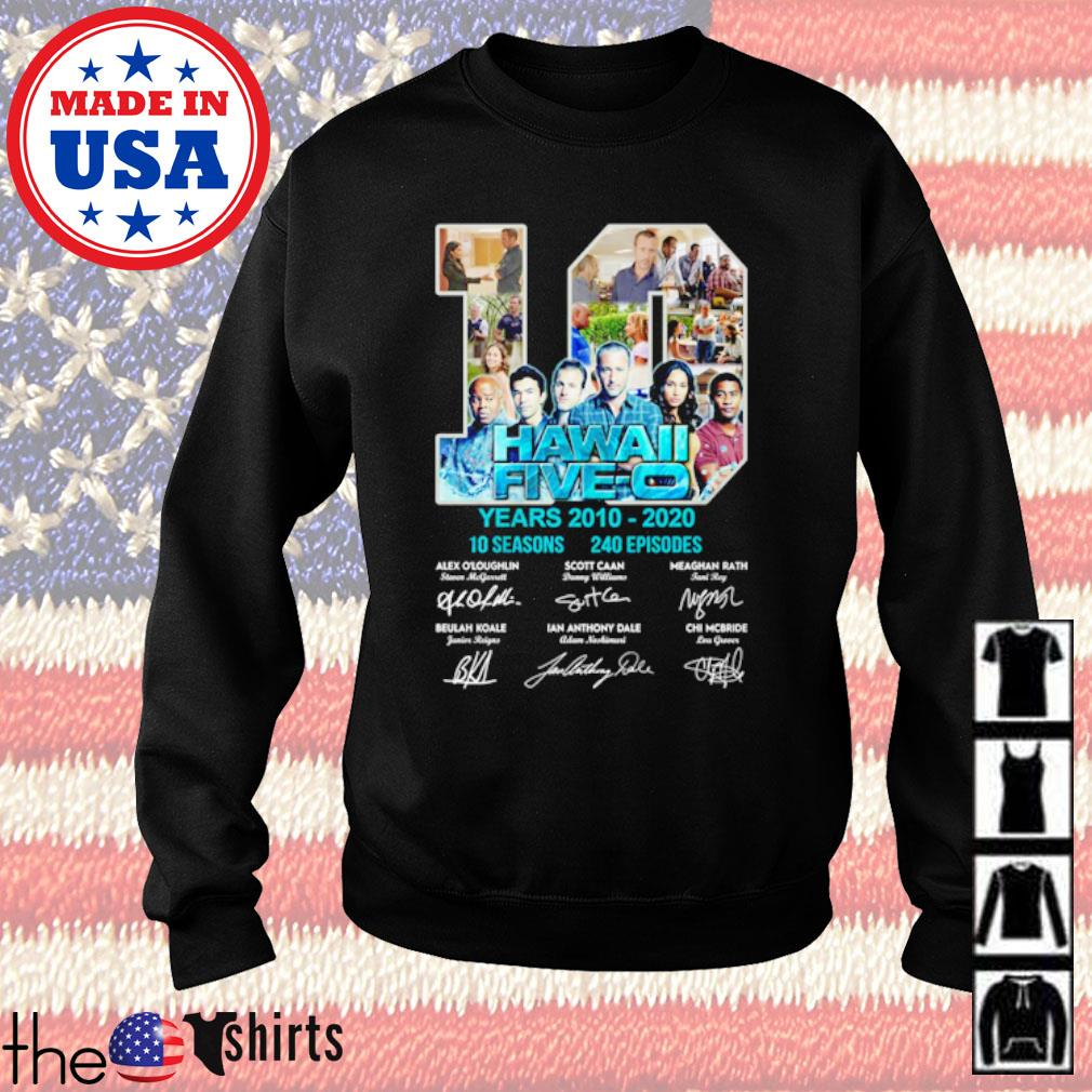 10 Years Hawaii Five-0 2010-2020 10 seasons 240 episodes signatures s Sweater Black