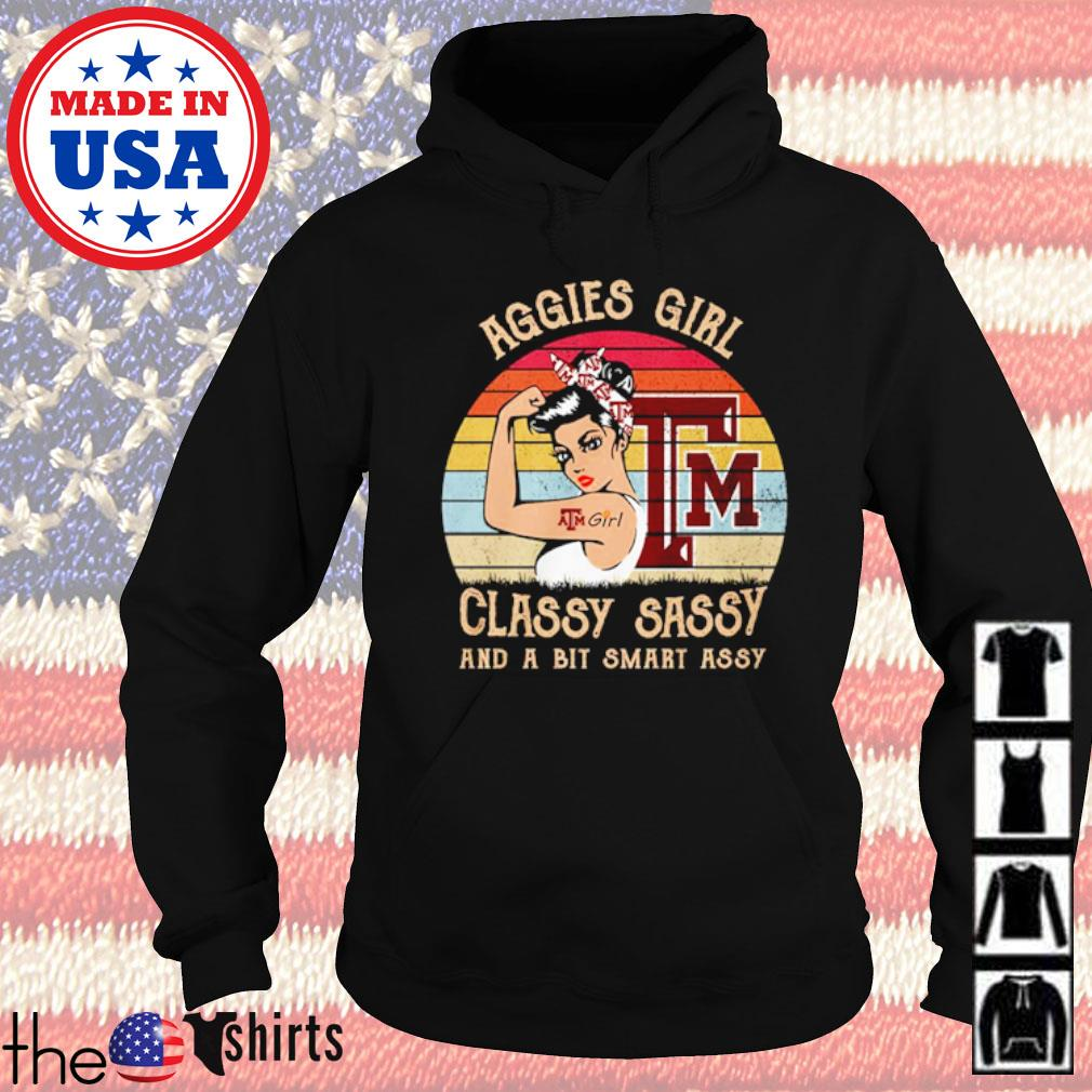 Aggies girl classy sassy and a bit smart assy vintage s Hoodie Black