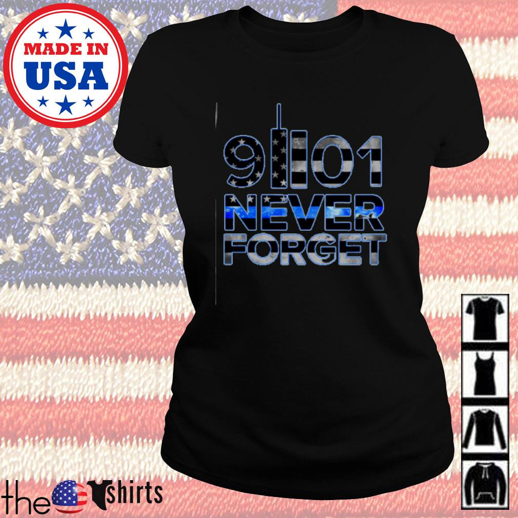 Ameircan Never Forget 91101 s Ladies Tee Black
