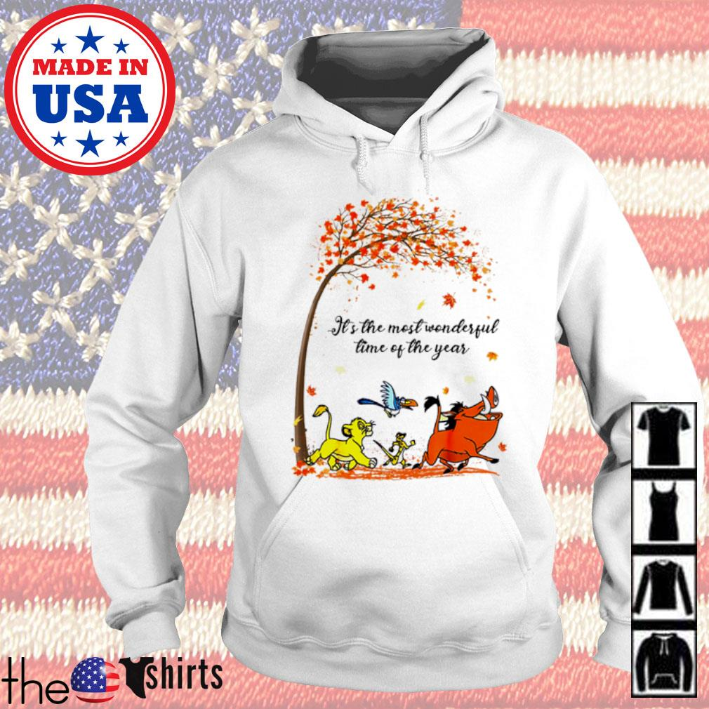 Autumn Hakuna Matata it's the most wonderful time of the year s Hoodie White