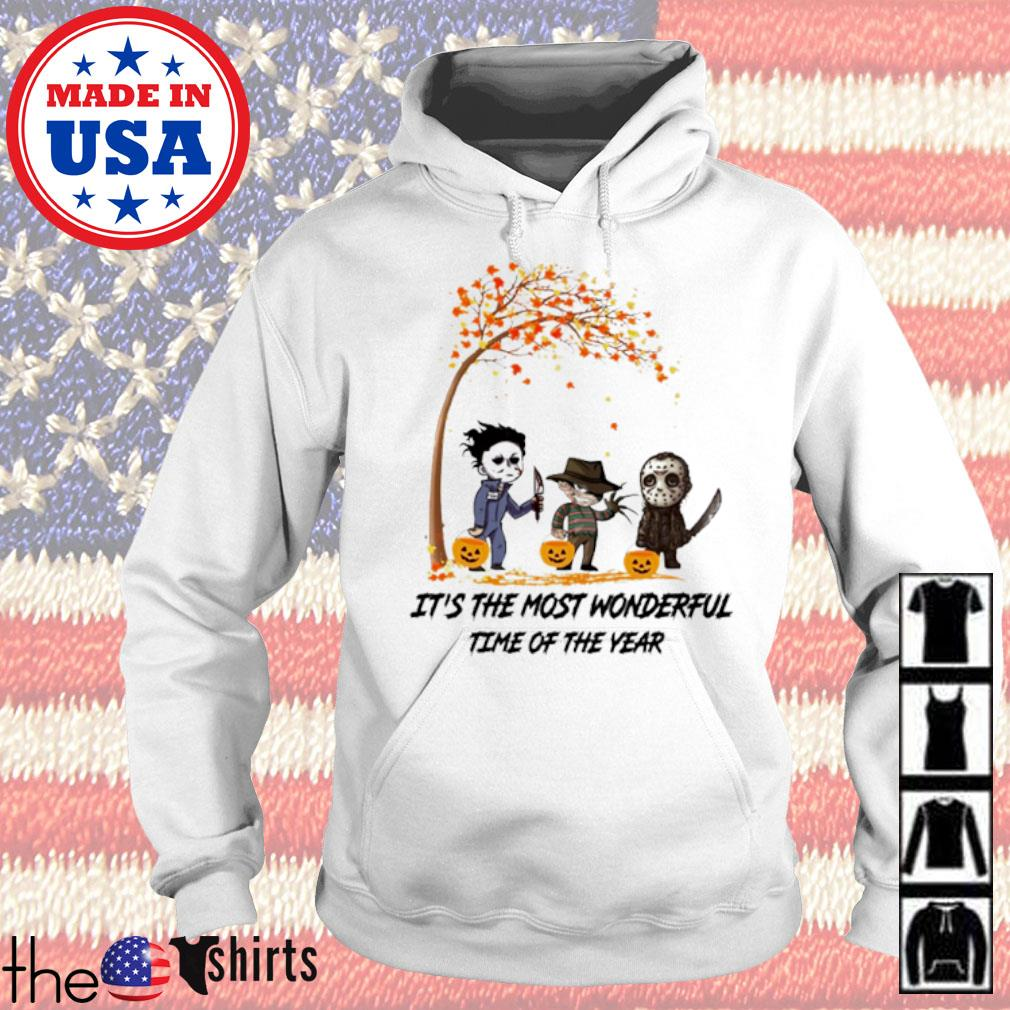 Autumn Horror characters Myers Krueger Jackson Voorhees it's the most wonderful time of the year s Hoodie White