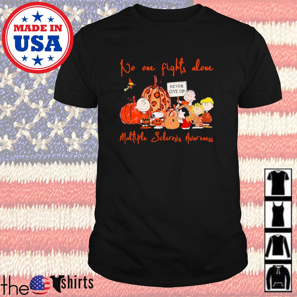 Autumn The Peanuts never give up No one fights alone multiple sclerosis awareness shirt