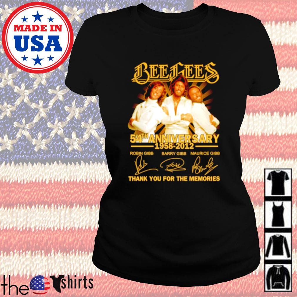 Bees Bees 54th Anniversary 1958-2012 all member signatures s Ladies Tee Black