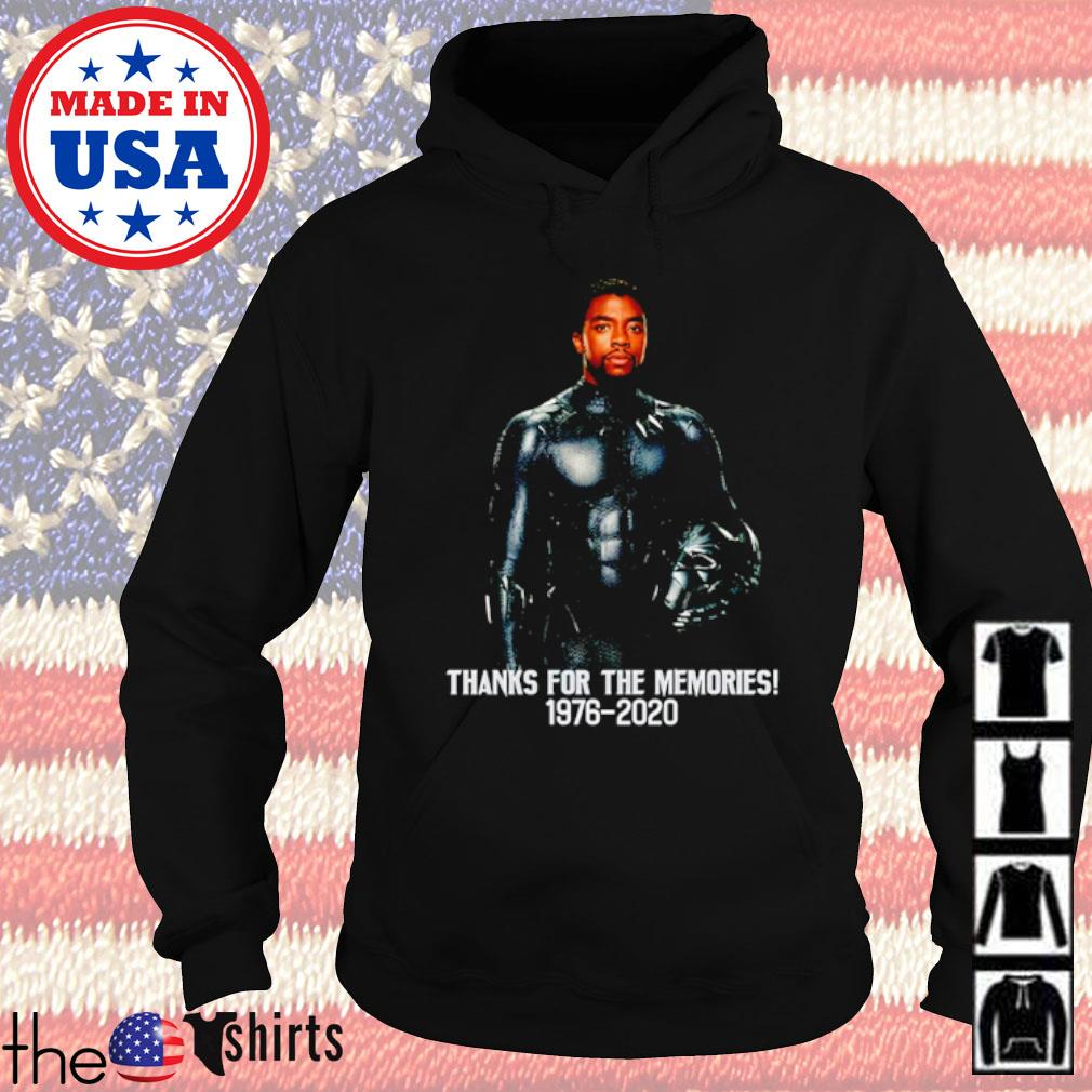 Chadwick Boseman Black Panther thank you for the memories 1976-2020 s Hoodie Black