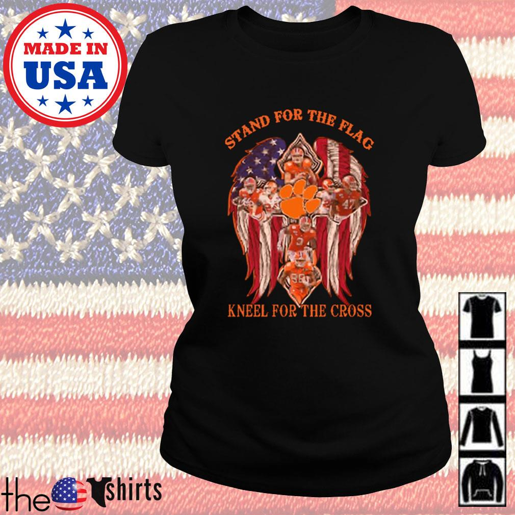 Clemson Tigers stand for the flag kneel for the cross s Ladies Tee Black