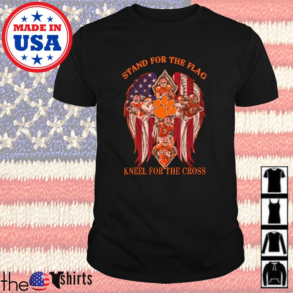 Clemson Tigers stand for the flag kneel for the cross shirt