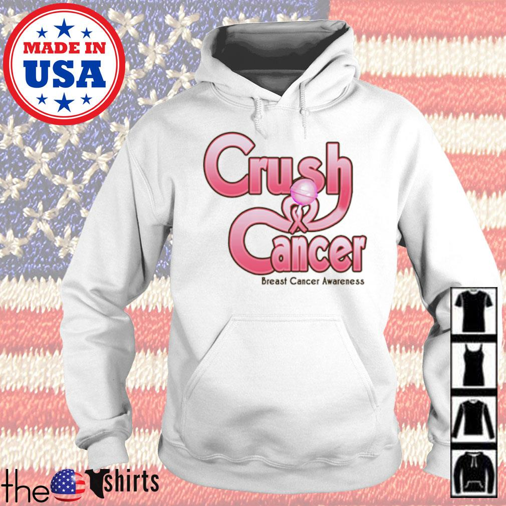 Crush cancer breast cancer awareness s Hoodie White
