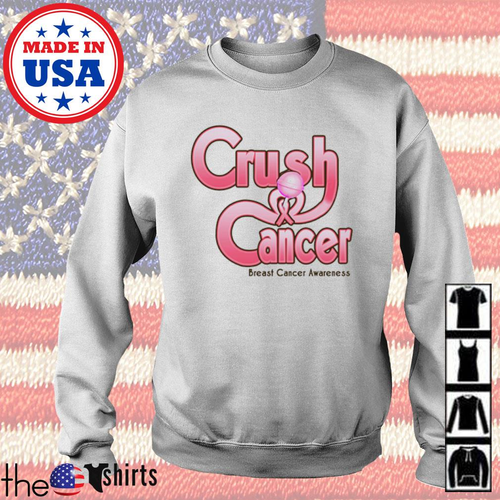 Crush cancer breast cancer awareness s Sweater White