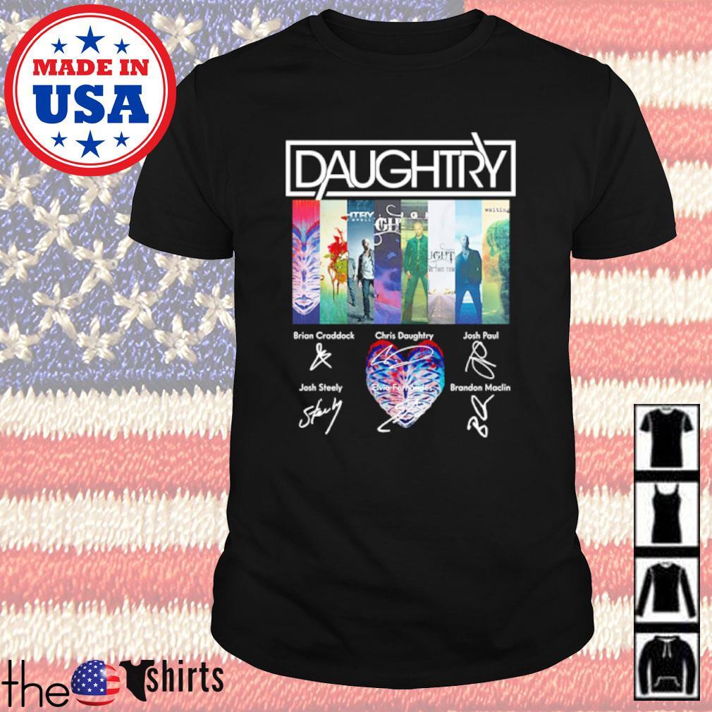 Daughtry all members signatures shirt