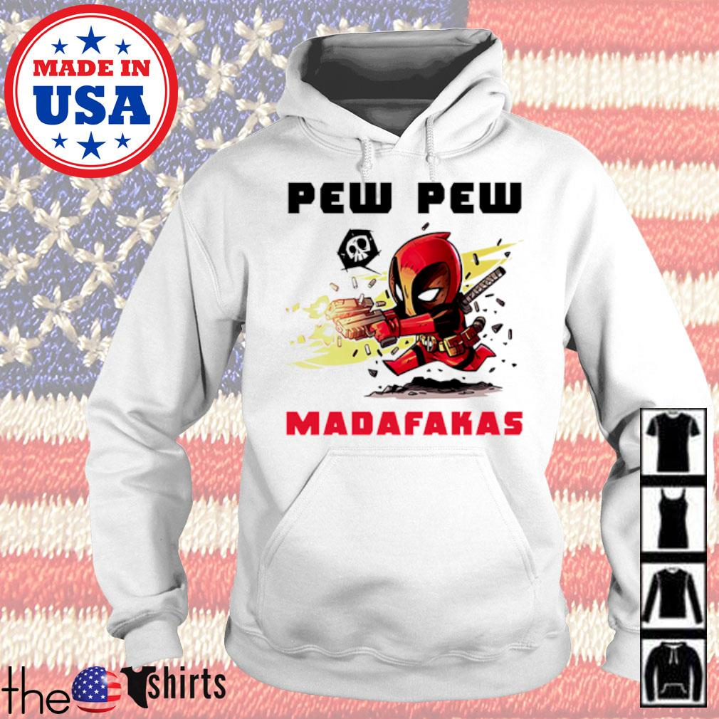 Deadpool hold guns pew pew madafakas s Hoodie White
