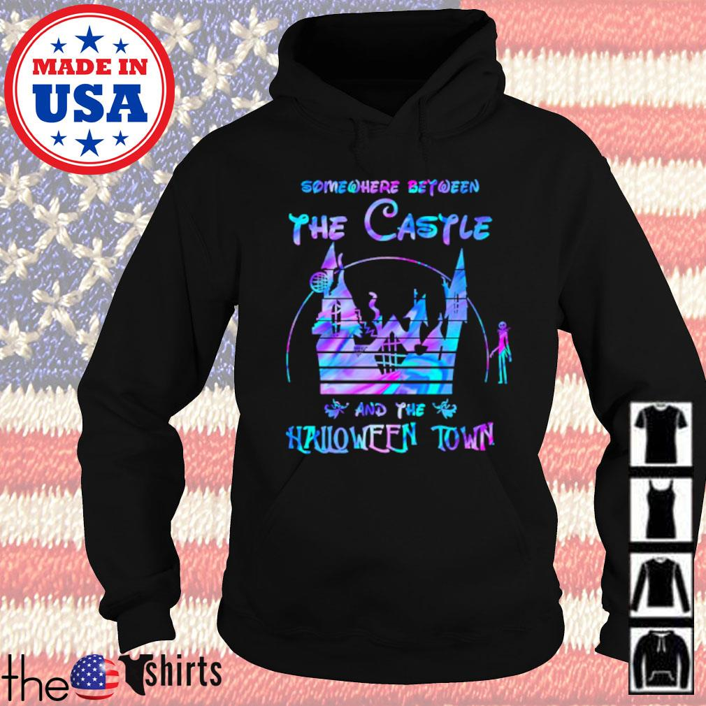 Disney world Somewhere between the Castle and the Halloween town s Hoodie Black