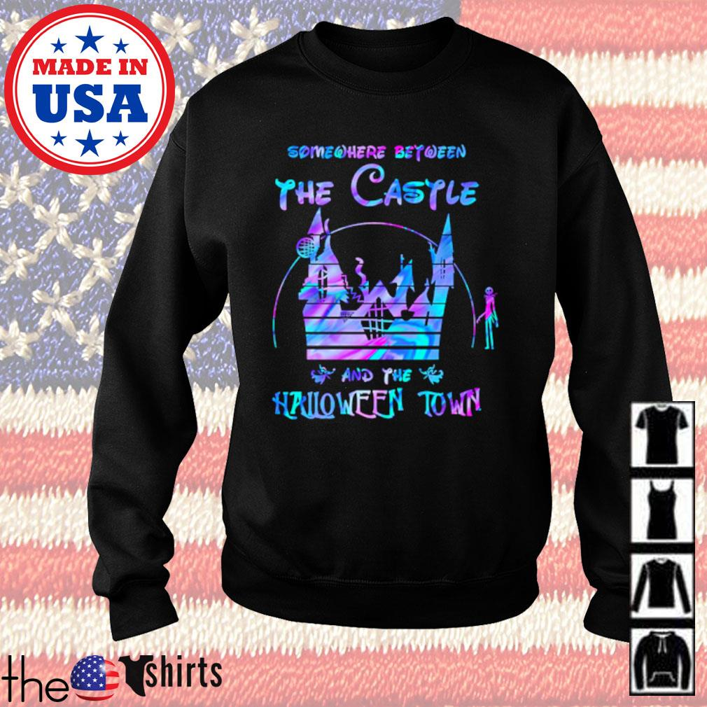 Disney world Somewhere between the Castle and the Halloween town s Sweater Black