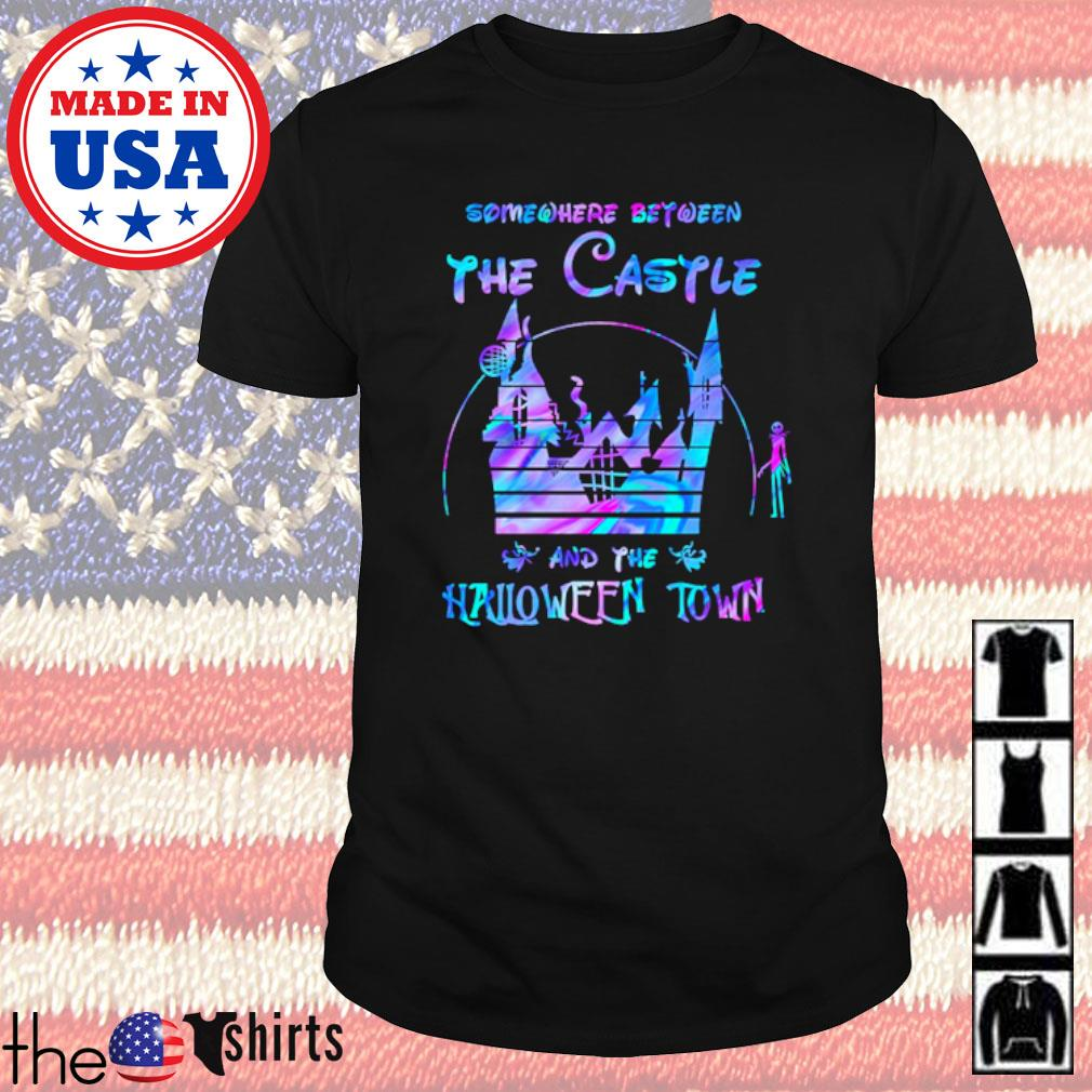 Disney world Somewhere between the Castle and the Halloween town shirt