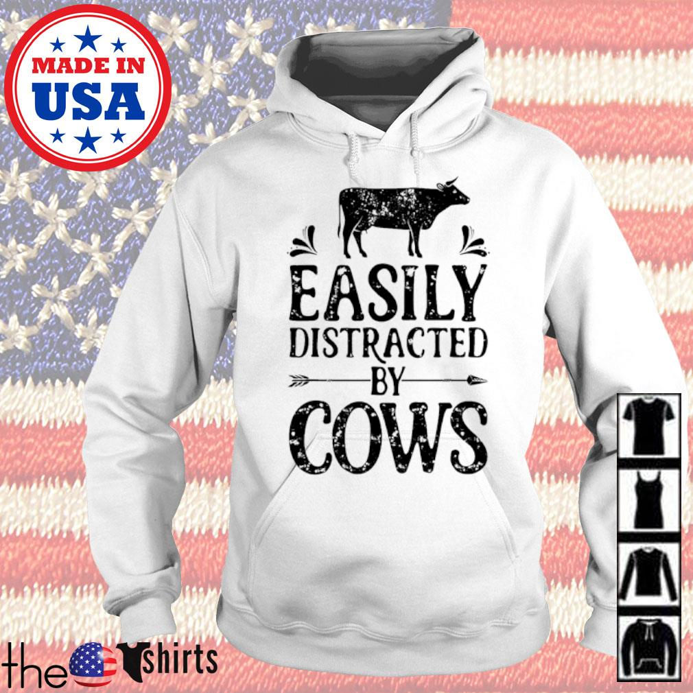 Easily distracted by cows s Hoodie White