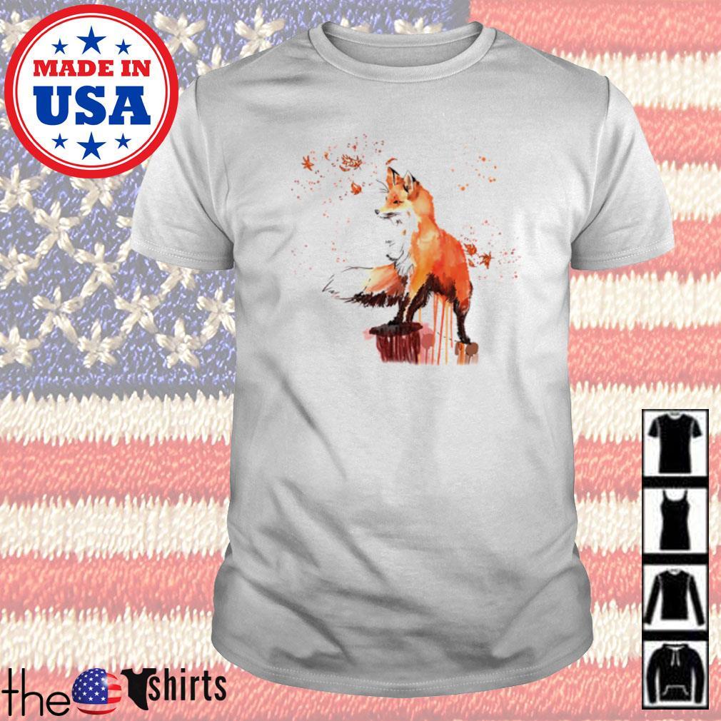 Fox watercolor shirt