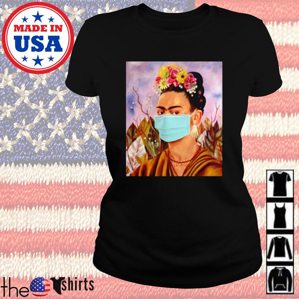 Frida Kahlo self mask women s Ladies Tee Black