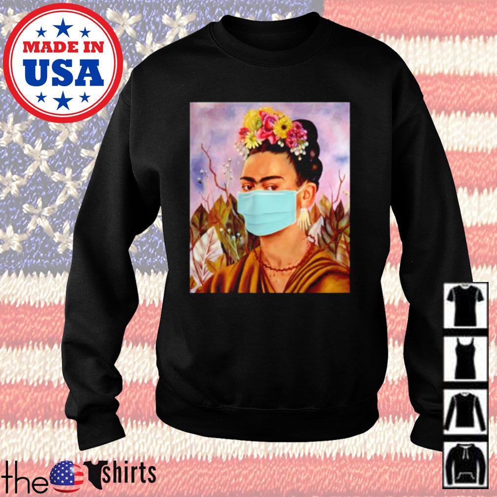 Frida Kahlo self mask women s Sweater Black