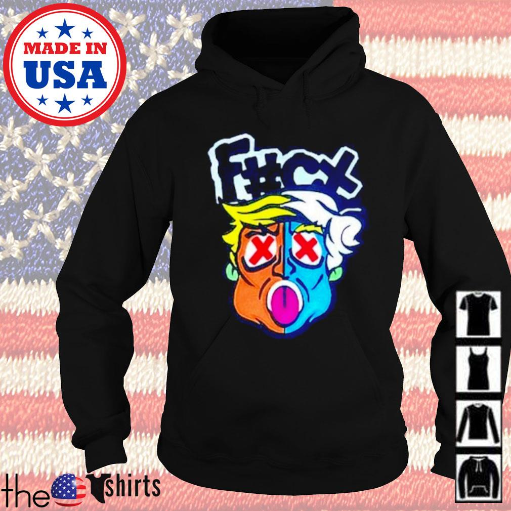 Fuck Donald Trump The Smurfs s Hoodie Black