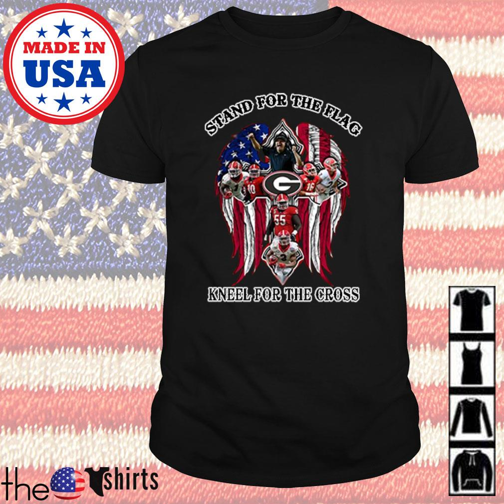 Georgia Bulldogs stand for the flag kneel for the cross shirt
