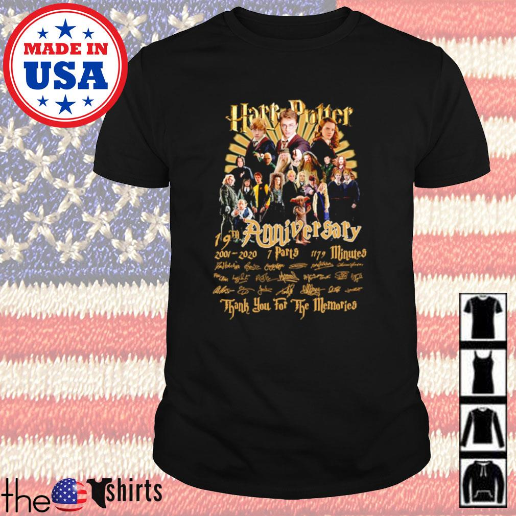 Harry Potter 19th Anniversary 2001-2020 7 parts 1179 minutes signatures shirt