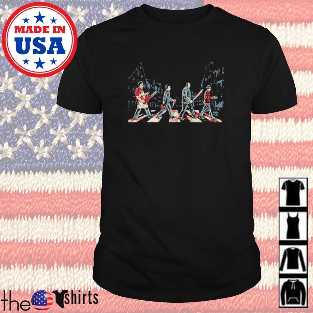 Horror character movies Abbey Road shirt