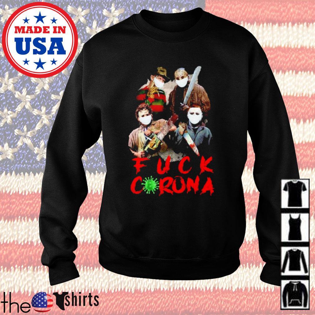 Horror characters fuck corona COVID-19 s Sweater Black