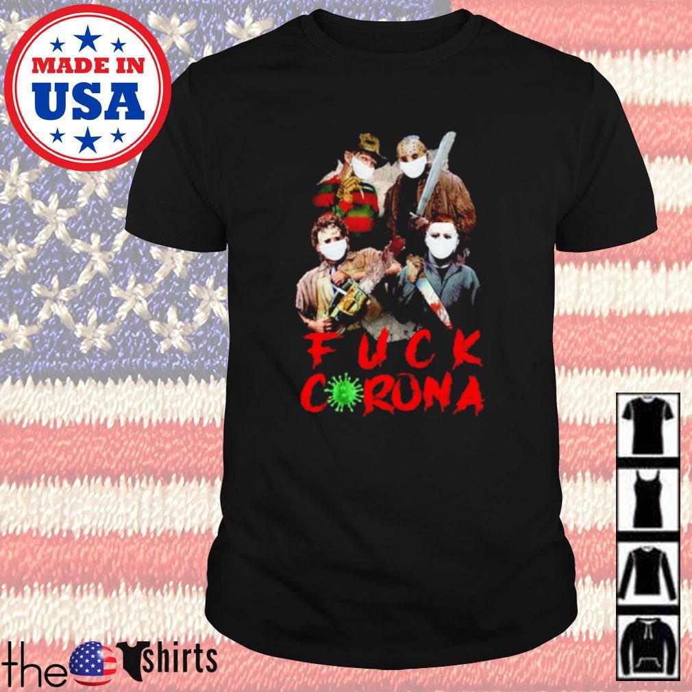 Horror characters fuck corona COVID-19 shirt