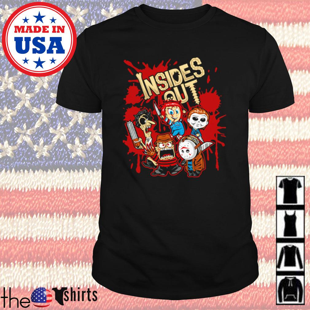 Horror characters inside out shirt