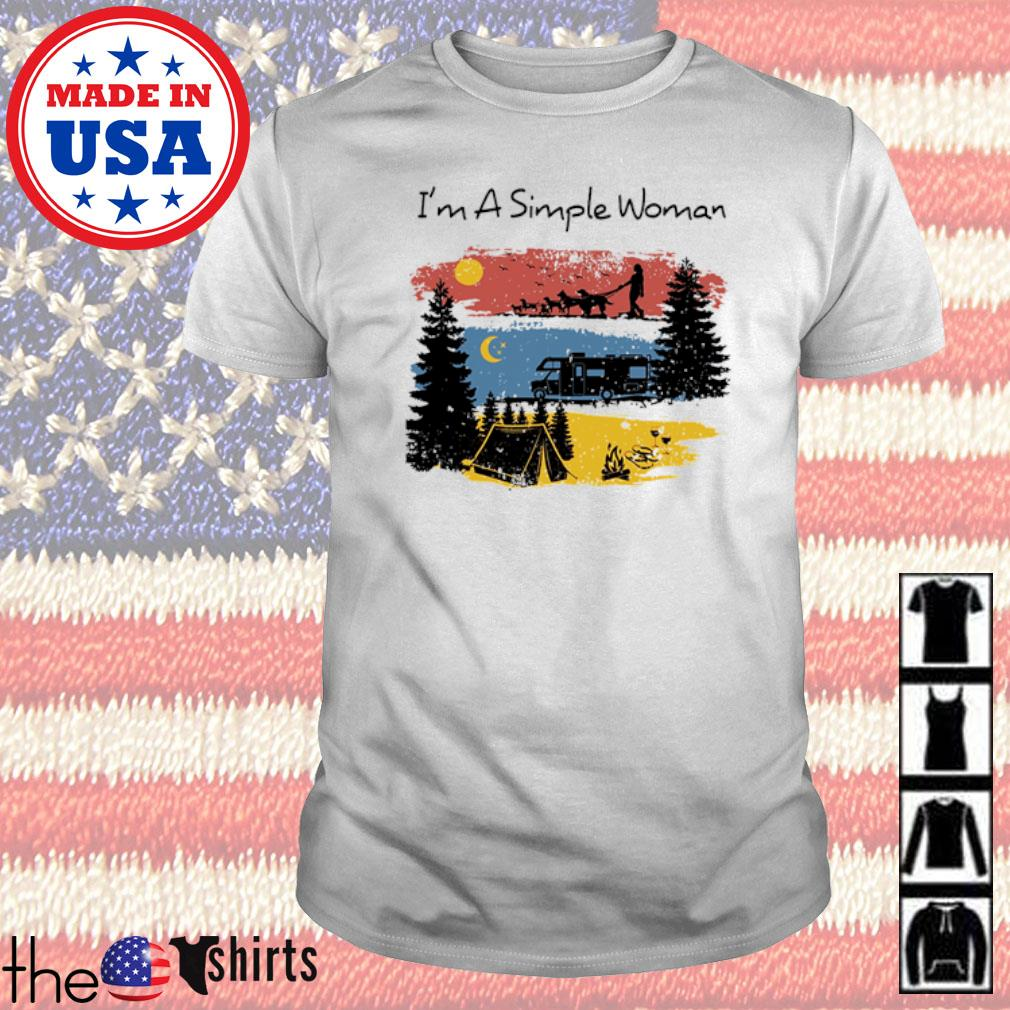 I am a simple woman I like camping shirt