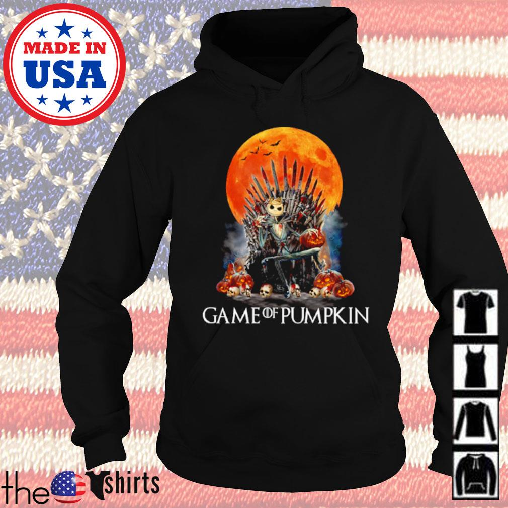 Jack Skellington Game of pumpkin blood moon s Hoodie Black