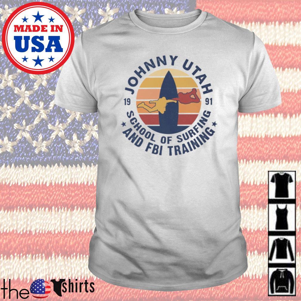 Johnny Utah 1991 school of surfing and FBI training vintage shirt