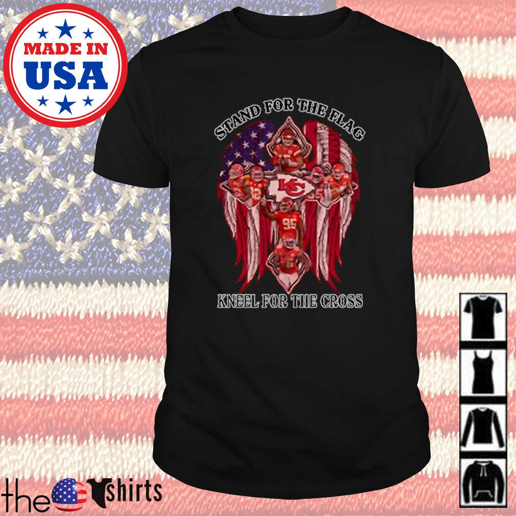 Kansas City Chiefs stand for the flag kneel for the cross shirt