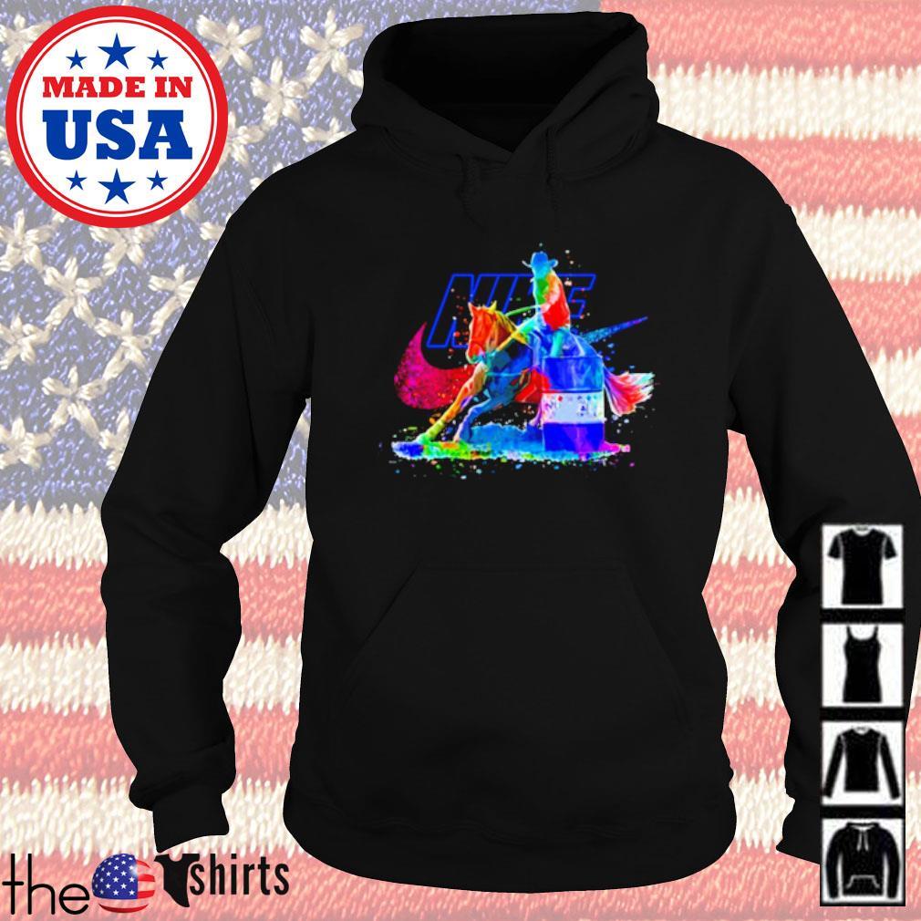 LGBT Pride Nike Cowboy riding horse s Hoodie Black