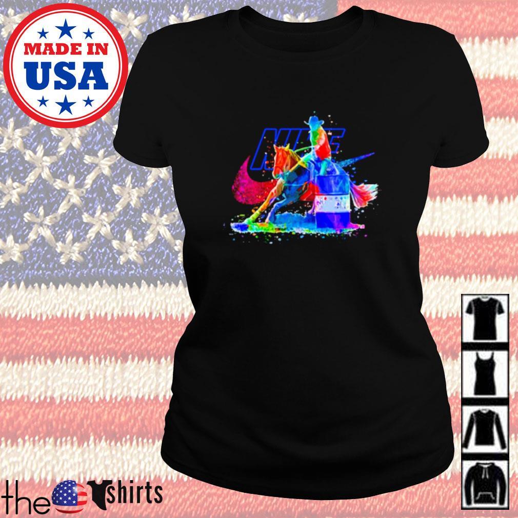LGBT Pride Nike Cowboy riding horse s Ladies Tee Black