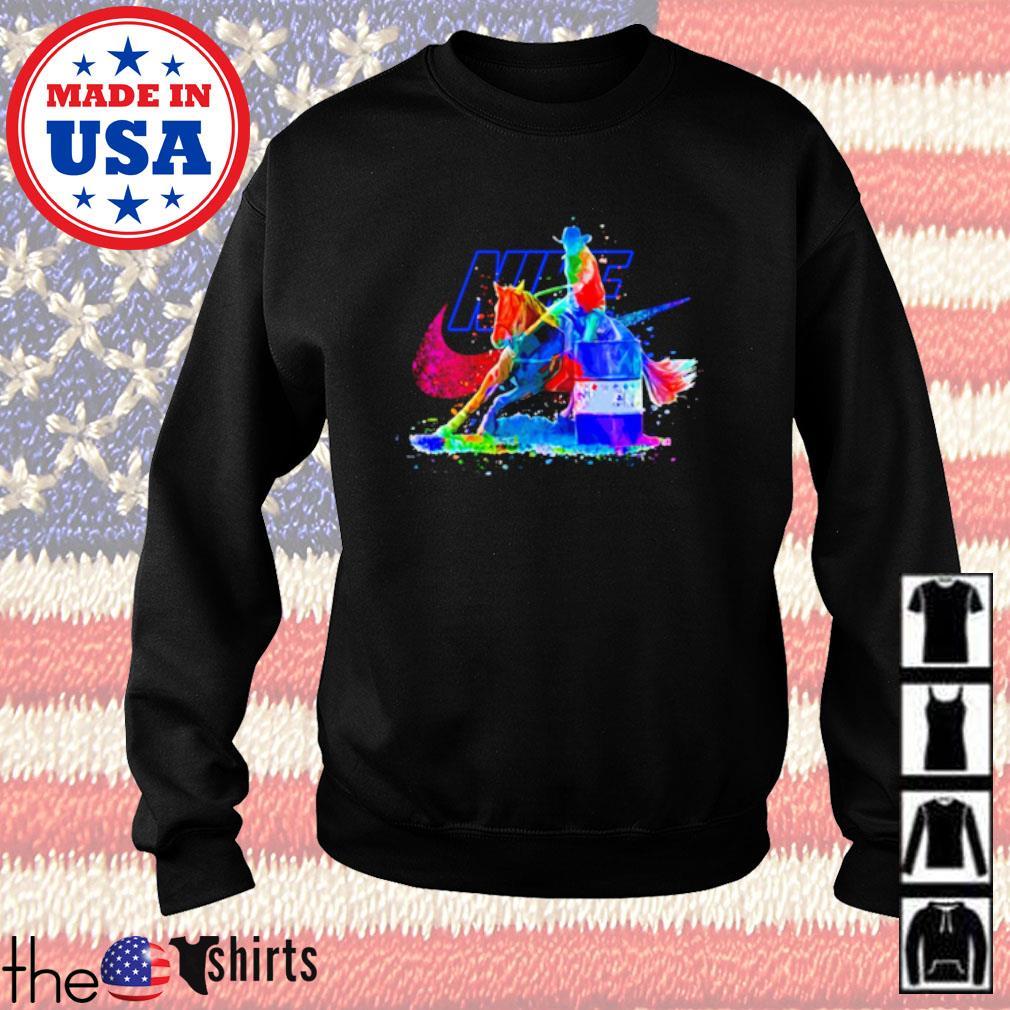 LGBT Pride Nike Cowboy riding horse s Sweater Black