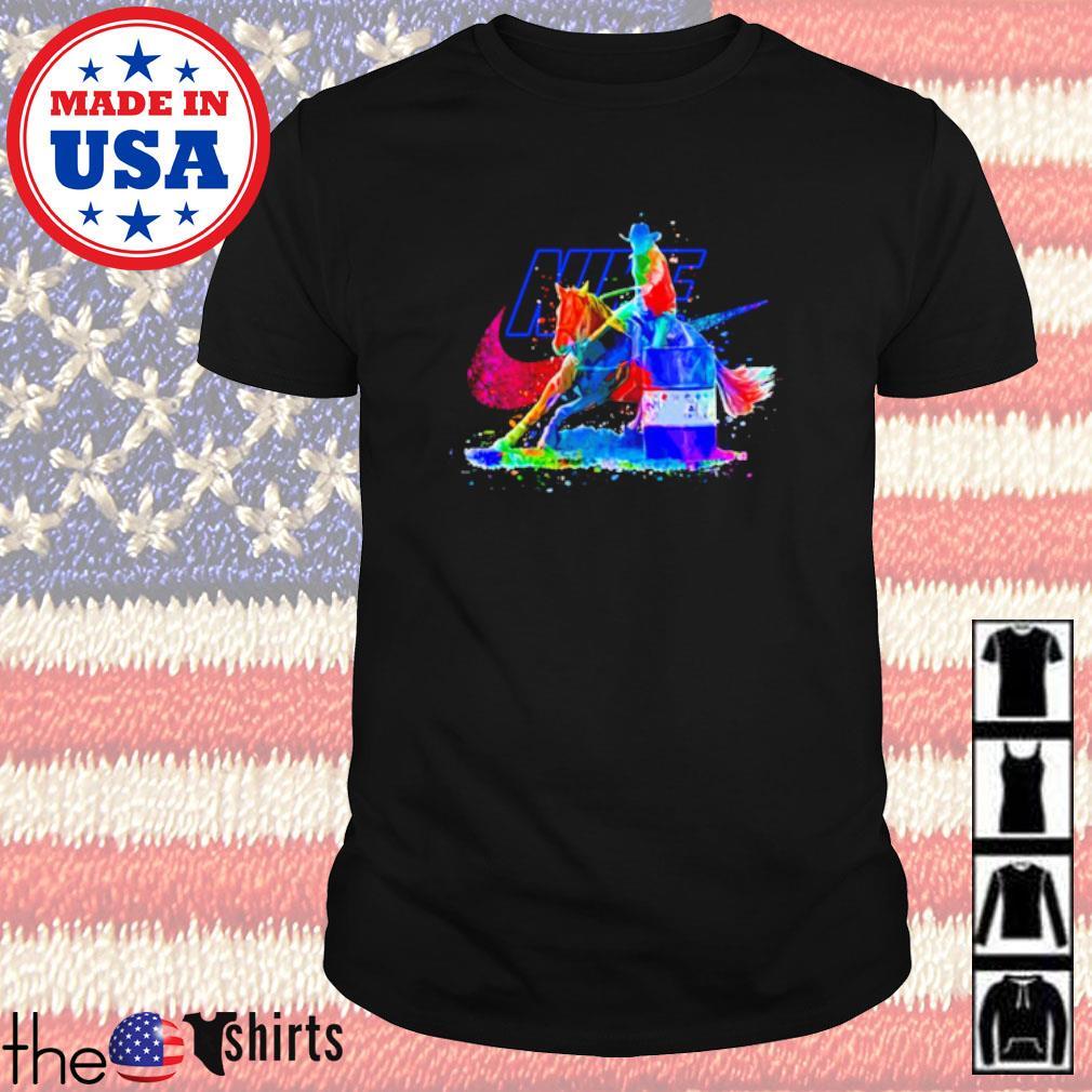 LGBT Pride Nike Cowboy riding horse shirt