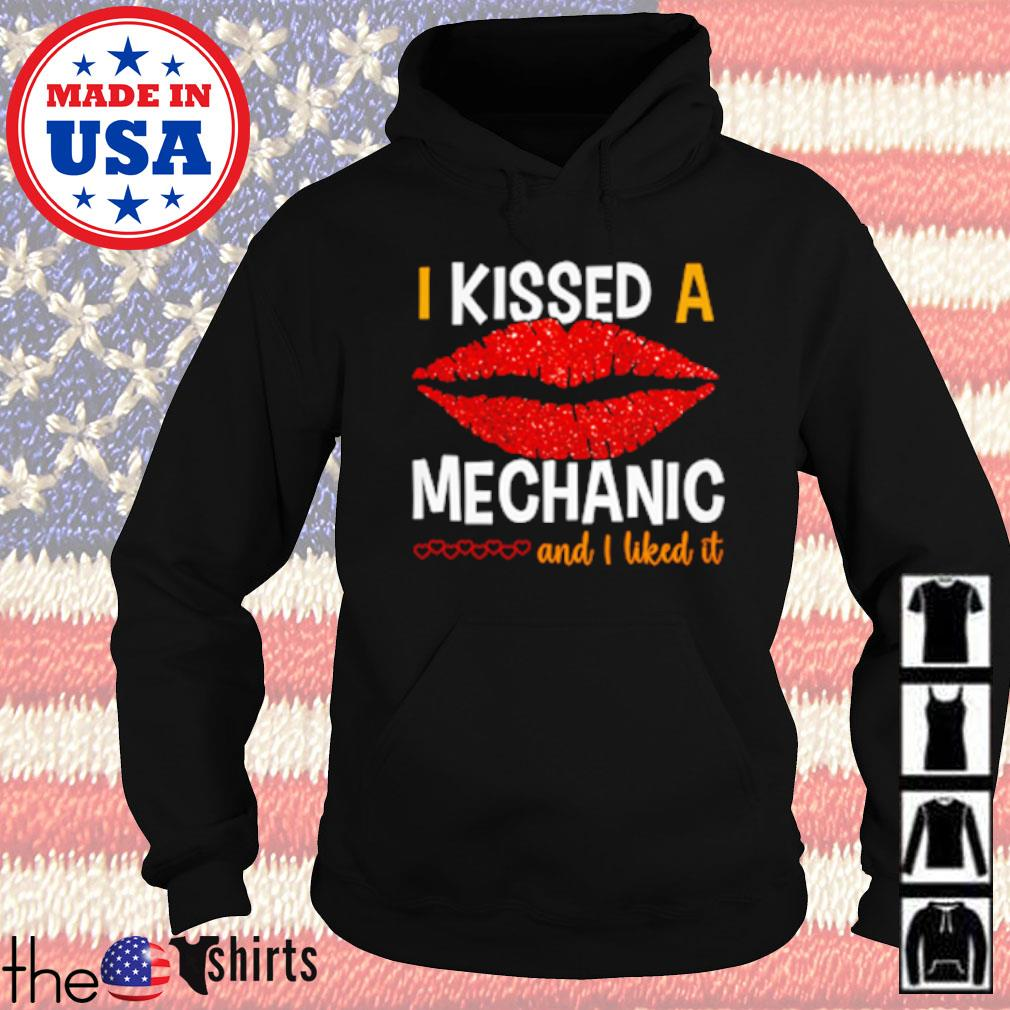 Lips red I kissed a mechanic and I liked it s Hoodie Black