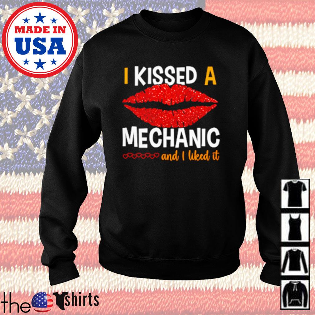 Lips red I kissed a mechanic and I liked it s Sweater Black